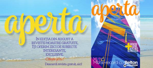 Banner Aperta Magazin August 2019