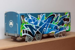 MadC sketch on a Molotow Mini Train